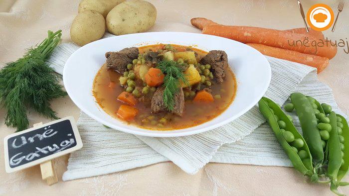 Gjelle me bizele, karrota dhe patate
