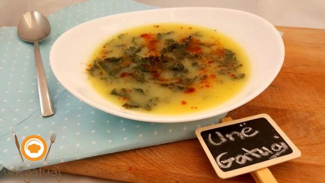 Supe me patate dhe laker jeshile
